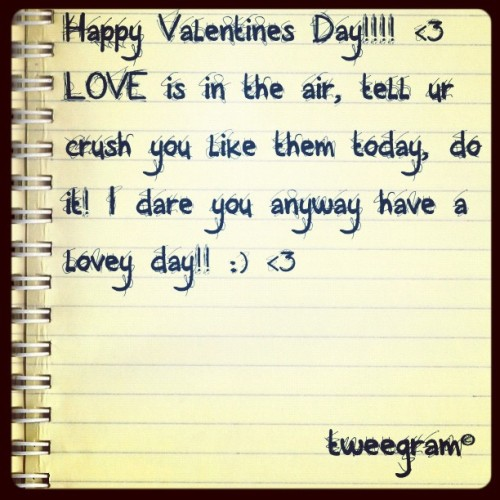 #tweegram happy valentines day!! <3 (Taken with instagram)