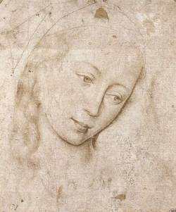 poboh:   Study, Head of The Madonna, Rogier Van Der Weyden.  Flamesh ( ca 1400 – 1464)