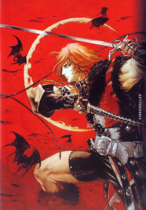 Promo art for Castlevania Chronicles on PS1.