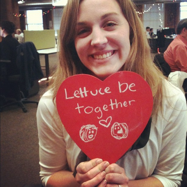 Lettuce be together. #happyvalentines from zulily! (Taken with Instagram at zulily HQ)