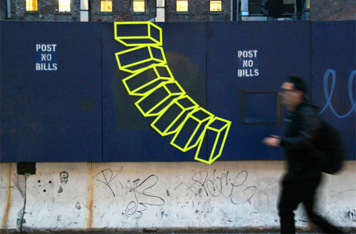 "aakashnihalani:  ""Untitled (Post No Bills)"" by Aakash Nihalani"