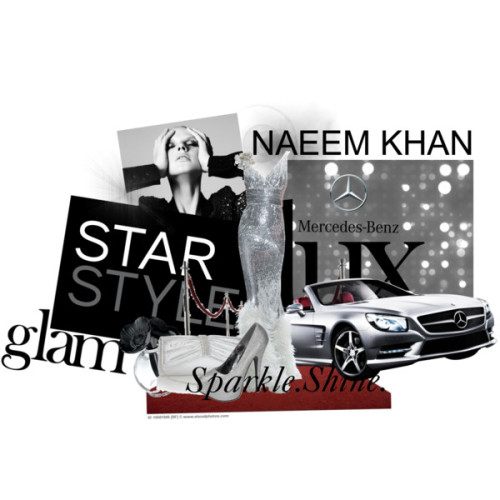 An entry for the 'STAR STYLE presented by Mercedes-Benz + Naeem Khan' contest Drive in Style by beauxnicole featuring long dresses Silver shoes, £3.50Debut printed handbag, £25Lalique 2 Anemones Flacon, Black, $1,650The Red Carpet [42-16601906] > Stock Photos | Royalty Free | Royalty…, $35