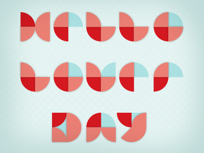 It's V-day Today, and I just dribbbled about it —