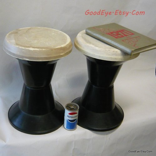 So mod..Vintage 1960s -70 era Modular Garden stools or side tables, @ www.GoodEye.Etsy.Com