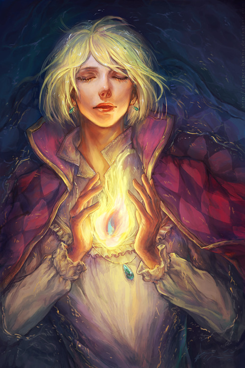 misslime:  Heartfire by =reaper-bunny  I just always need more Howl on my dash.