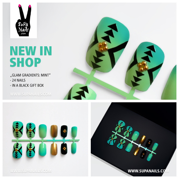 "Supa Nails ""Glam Gradients: Mint"" NEW in Shop"