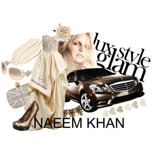 Another entry for the 'STAR STYLE presented by Mercedes-Benz + Naeem Khan' contest Glam in Pearl & Bronze by beauxnicole featuring high heel shoes Jane Norman high heel shoes, £23Alexander McQueen clutch bag, £1,495Sunglasses, $189Monsoon beaded hair accessory, £8stila cosmetics - perfecting concealerLibrary Hearts Garland in Valentine's Day Shop by Category Cards &…, $10