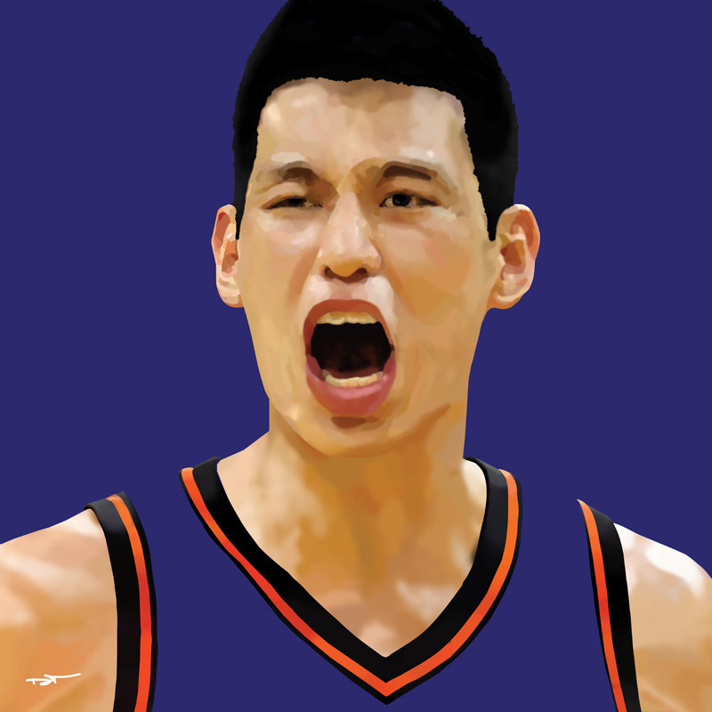 My contribution to Linsanity - This Jeremy Lin Digital Painting | Purchase: Wall Art