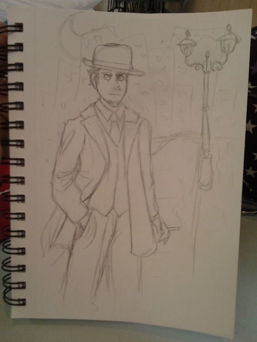 brizybdarling:  So fuckin' noir.  More cell phone pics of drawing doodles before going to work. Feel free to leave requests.
