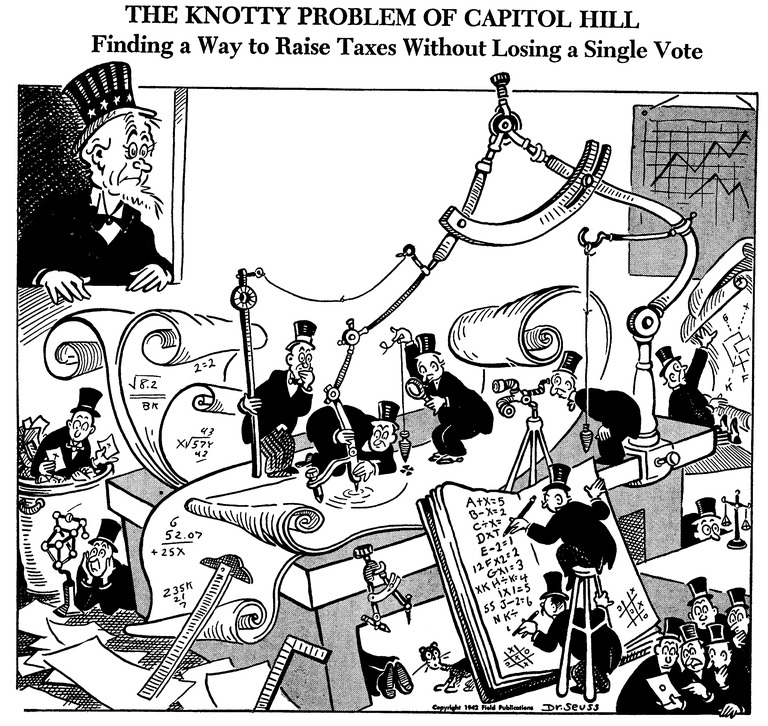 The Knotty Problem of Capitol Hill, published July 23, 1942 in PM MagazineDr. Seuss Collection, MSS 230