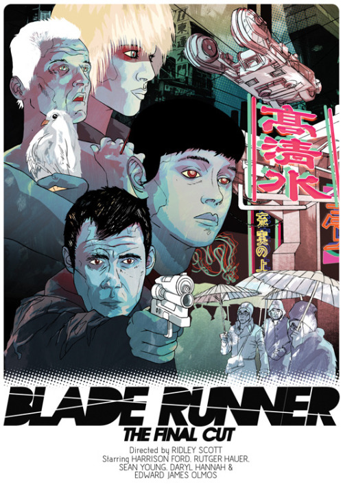 fuckyeahmovieposters:  Blade Runner by James Fenwick for Cult Cinema Sunday