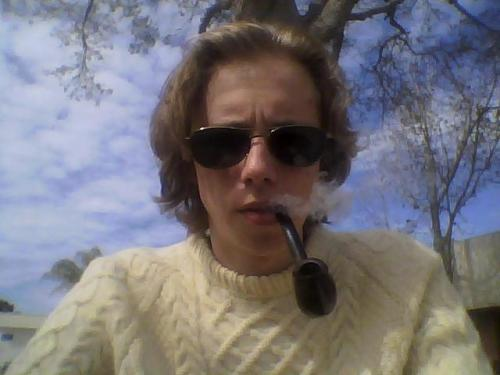 Nothing better than a thick sweater and a nice pipe on a cool day!!