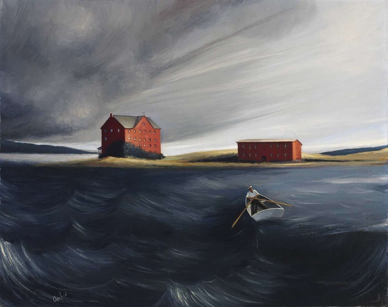 peira:  Robert P. Archer:  Approaching Storm (c.1938) via the Smithsonian American Art Museum
