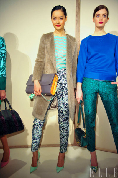 elle:  NYFW J.Crew hit all of the right notes with a stellar accessories collection, including a collab with Manolo Blahnik!! Photo: IMAXtree