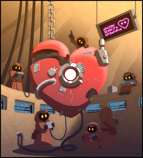"mecha-love mardila:  ""Happy Jawa Valentine"" // by neitsabes (deviantart)"