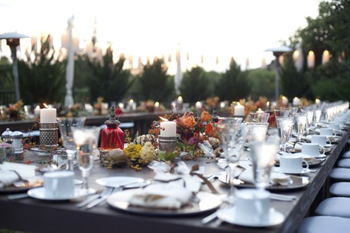 Beautiful table setting on the Garden Lawn. Photo: Cameron + Kelly Studios, Design/ Floral: Events by Showstoppers
