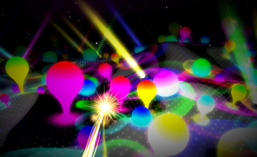 Lights by Ellie Goulding Using WebGL and three.js (Javascript 3D engine) Hello Enjoy and Tool of North America created this colorful and visually stimulating 3D music video for Ellie Goulding's song Lights.  For the best experience, make sure you view the site in Chrome. Check out more of the three.js demos and featured projects on GitHub.