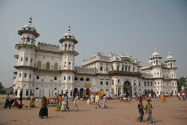 Janakpur, Janaki Mandir temple by blauepics on Flickr.