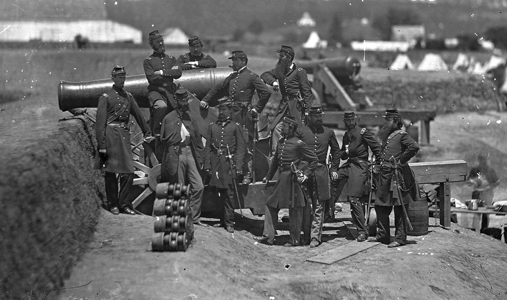 Officers of the 69th Infantry New York, at Fort Corcoran, Virginia, with Col. Michael Corcoran.  Many more incredible images from the Civil War at The Atlantic's website.