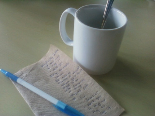 napkin poems
