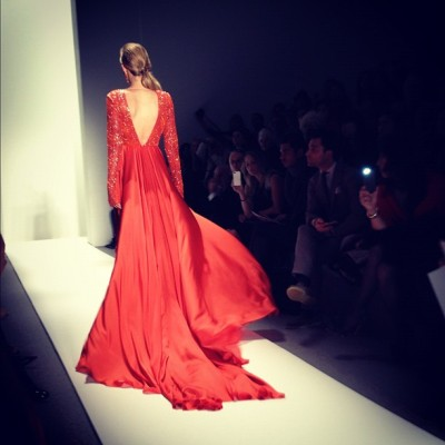 Bright color at Dennis Basso! (Taken with instagram)