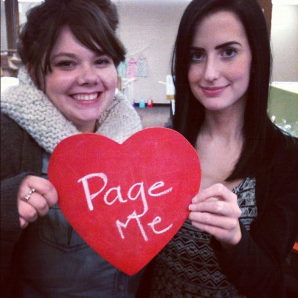"What's a ""pager""? 😉 #happyvalentinesday from #zulily! (Taken with Instagram at zulily HQ)"