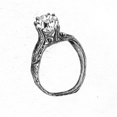 This ring looks so much like my own! What a beautiful illustration.  elliecryer:  41 10th February On this day in 1920, Jozef Haller de Hallenburg performs a symbolic wedding of Poland to the sea, celebrating restitution of Polish access to open sea. In the ceremony, a military flag was dipped into the sea, while the commander cast in a ring