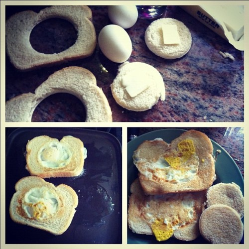 #breakfast #eggs in a #basket #food #bored #instafood #ig #igdaily #instagram  (Taken with instagram)