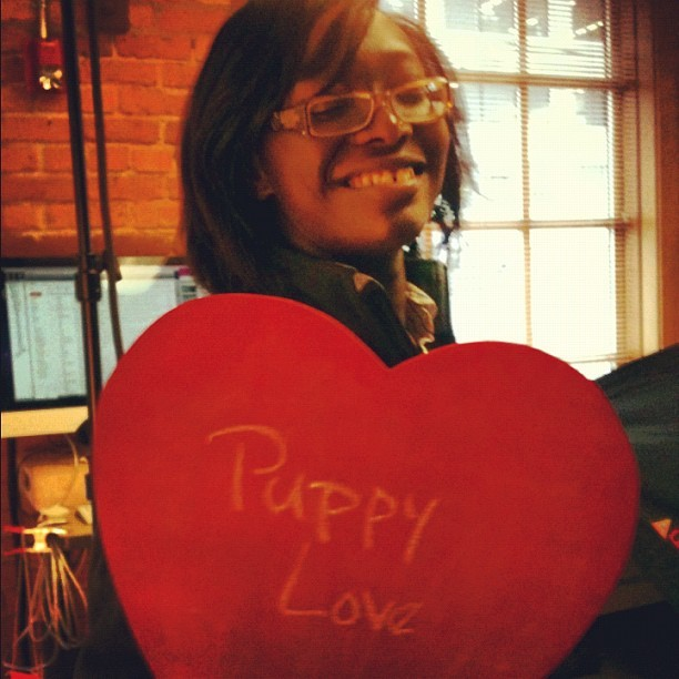 Puppy Love! #happyvalentinesday from #zulily  (Taken with Instagram at zulily HQ)