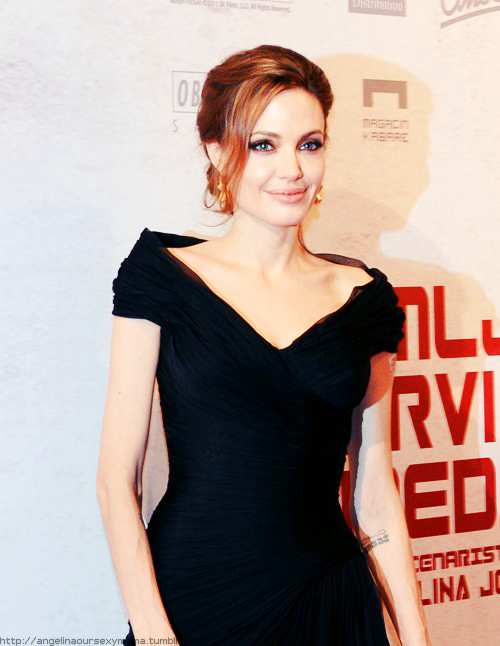 "angelinaoursexymama:  Angie at ""In the Land of Blood and Honey"" Premiere in Sarajevo."