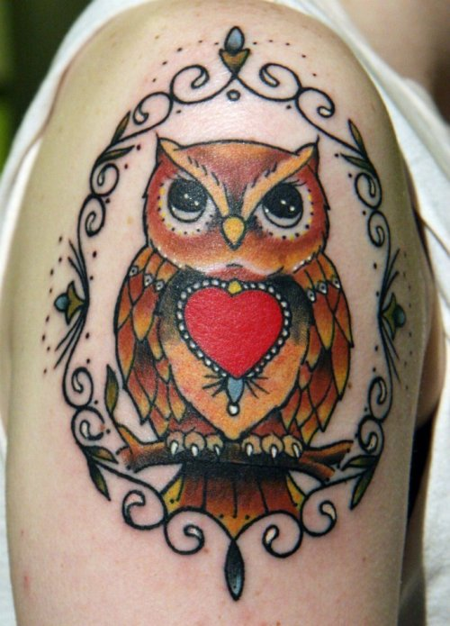 This is my Owl Tattoo that I have been wanting forever. I never really felt I could find the right tattoo idea on the web so it took me a lot longer to get the perfect idea into my head. I got this amazing piece of art at Tattoo Boogaloo in San Francisco, CA.   I had Sent my Artist Chris a few pictures of what I wanted, but the final stencil was way more amazing than I could imagine. After it was all done, I wanted to cry. Not out of pain, but out of the beauty of the tattoo. It's one of the most gorgeous pieces of art I've ever seen, and I get to wear it on me permanently.This is my 5th tattoo and by far the best session ever. Chris is absolutely hilarious and makes you feel at ease while he is tattooing you. I'm never going anywhere else ever again for a tattoo. I HIGHLY recommend Tattoo Boogaloo to anyone in the SF area who lives there or is even just visiting. Worth every single second.