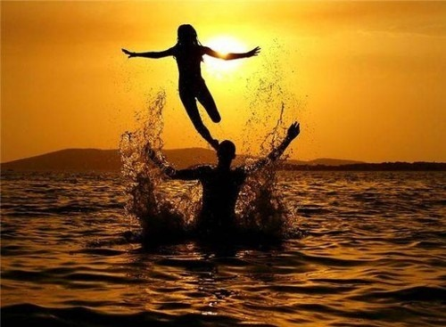 I want a man to propel me out of the water like a jet rocket too.