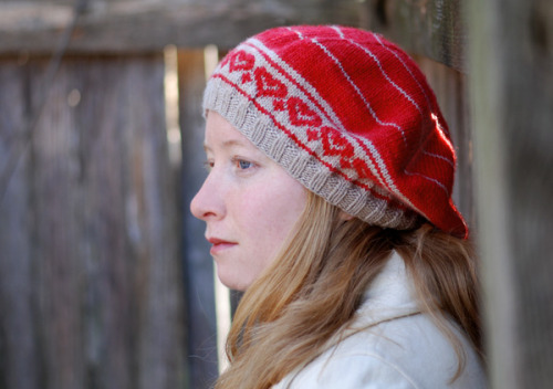 New free pattern – Healthy Heart Hat February is American Heart [Health] Month and with Stitch Red, the NeedleArts industry declares they're on board.