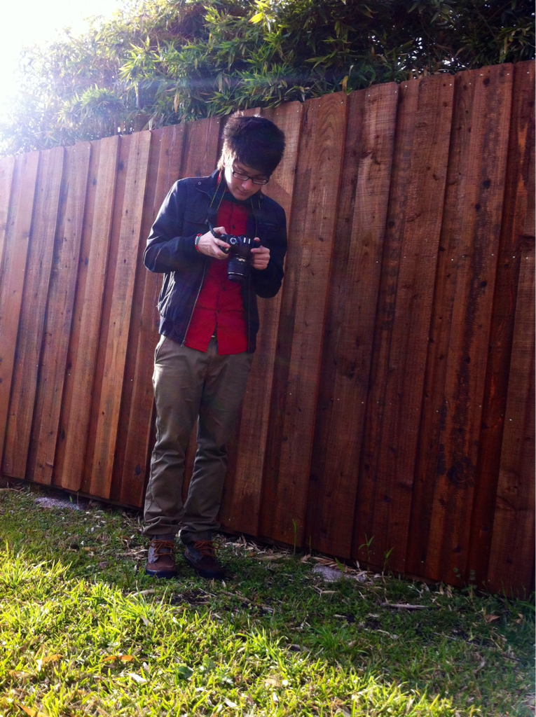 letslivelifelovely:  He's having fun with my camera c:  awee yeeaaaa c;