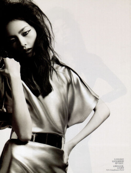 Fei Fei photographed by Hedi Slimane for Vogue China, March 2012