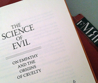 Current status- Science of Evil: On Empathy and the Origins of Cruelty by Simon Baron-Cohen  Empathy is a universal solvent.   (…)  And unlike the arms industry, which cost trillions of dollars to maintain, or the prison industry and legal system, which costs millions of dollars to keep oiled, empathy is free. And unlike religion, empathy cannot by definition oppress anyone.