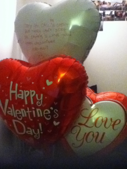 Valentine's Day: Balloons from My BF :D heheh