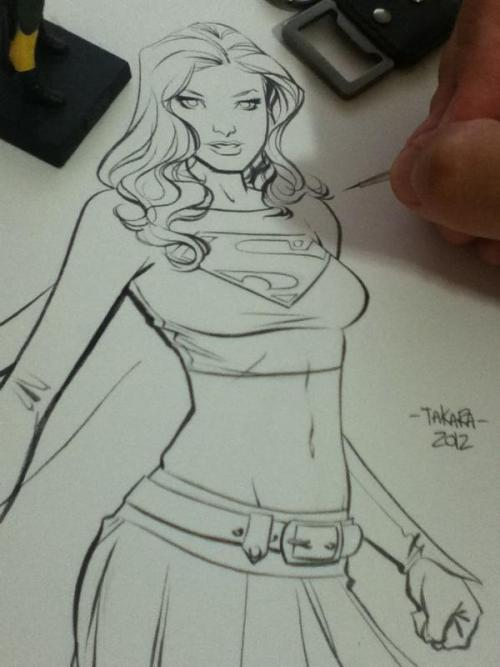 mtakara:  me drawing Supergirl.  So good.