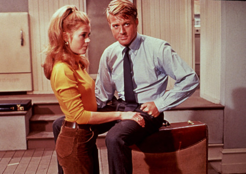 Jane Fonda & Robert Redford in Barefoot in the Park, 1967.