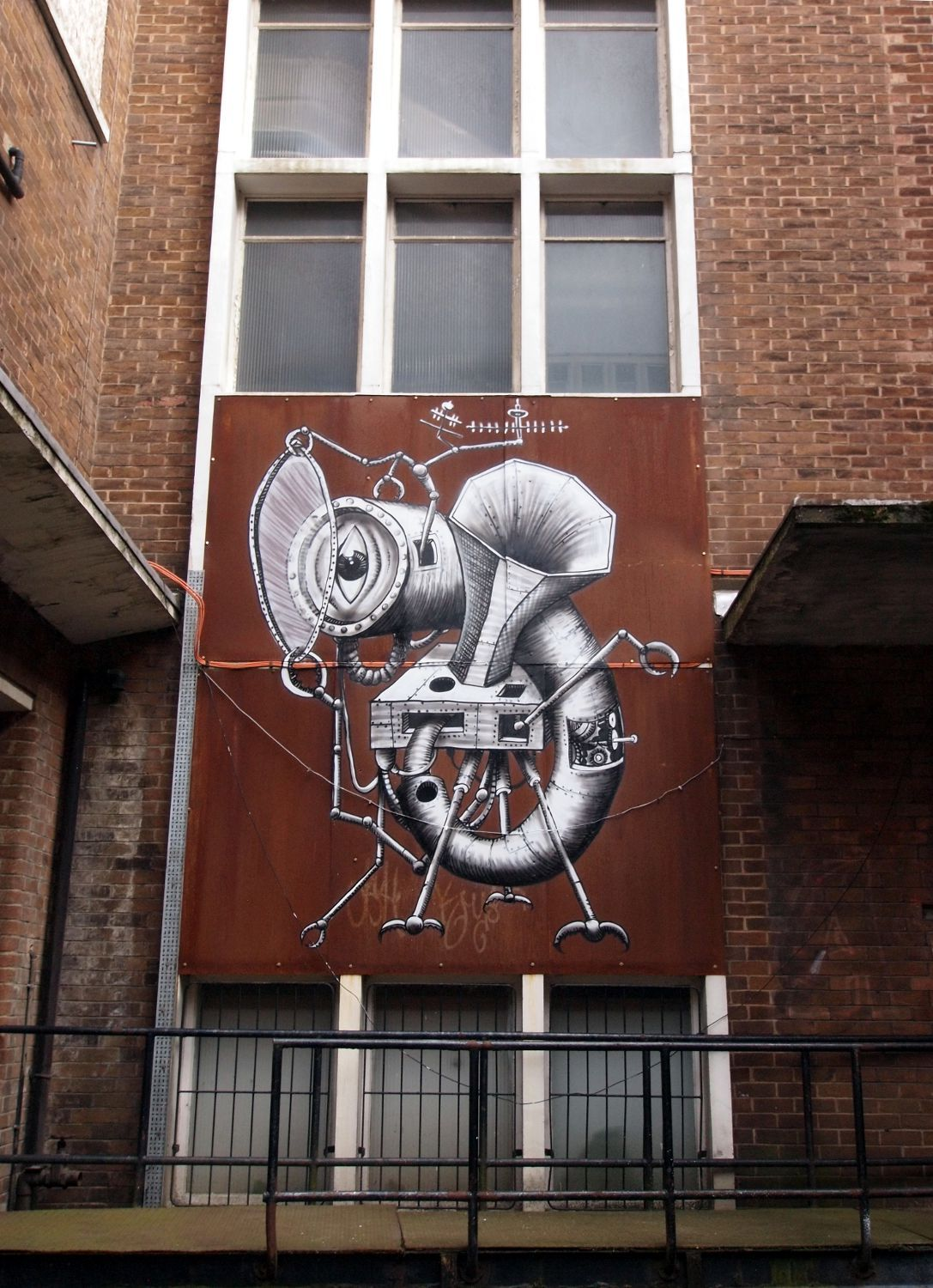 Two things I love. Phlegm and rusty old buildings.