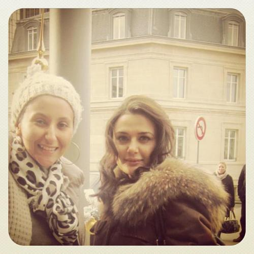 Preity Zinta on the sets of Ishq In Paris