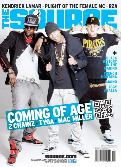 MEDIA REVIEW - @MacMiller On The Source Cover with Tyga and 2 Chainz !!! @TheSource