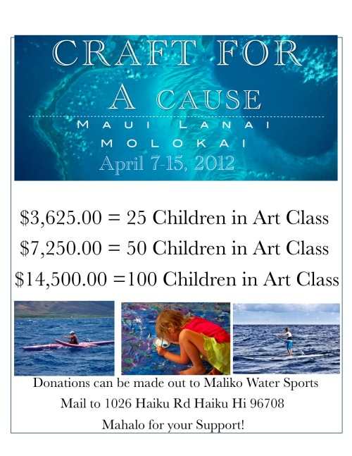 Donation Goals for Craft For a Cause 2012!