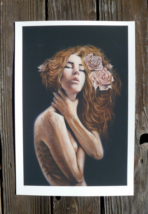 "printshare:  ""Cora"" by Charmaine Olivia 13"" x 19"" 100% archival BFK Rives 310 g/m2 papersigned, numbered, and titled by the artist in an edition of 50each print comes with a certificate of authenticity http://www.charmaineoliviashop.com/collections/frontpage/products/cora-limited-edition-giclee-print"