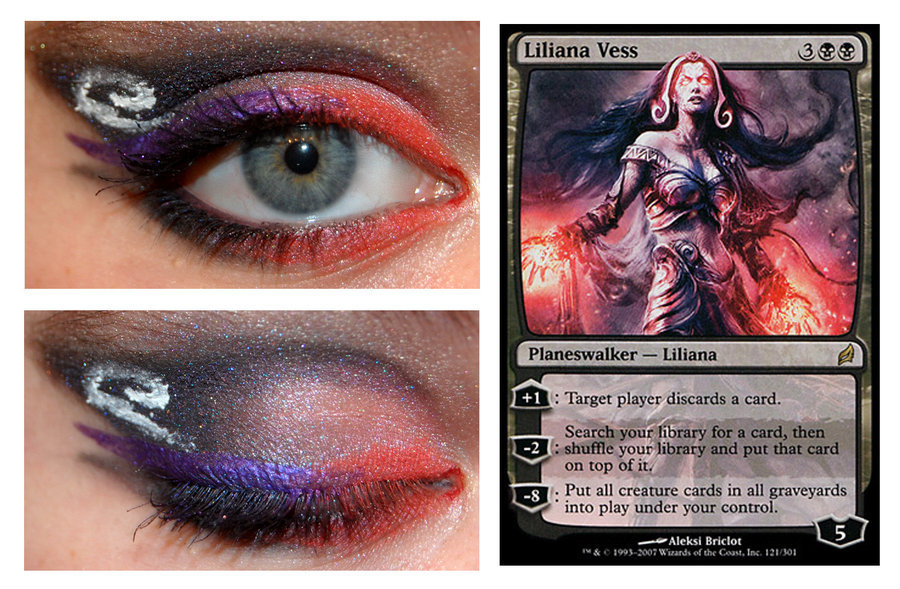 Magic Card Makeup: Liliana Vessby ~nazzara