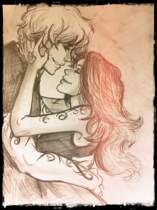 karalija:  Happy Valentines Day!!! Here's a quick sketch of Jace and Clary in a happy moment…