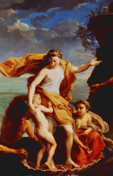 jaded-mandarin:  Thetis Confiding the Education of Achilles to the Centaur Chiron - Pompeo Batoni