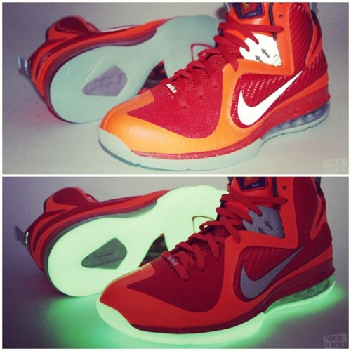 "LeBron 9 ""Galaxy"".  3M + Glow in the Dark. (Taken with instagram)"