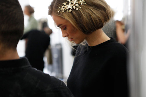 freshhair:  Rodarte fall 2012 backstage
