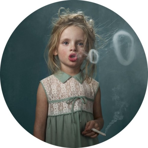 "(via Frieke Janssens' ""Smoking Kids"" Series 
